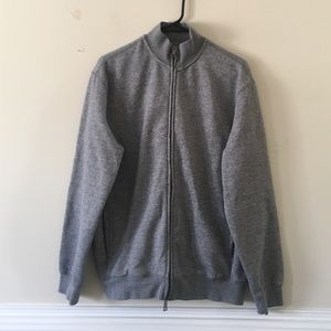 Armani Jeans heather grey full zip up sweater
